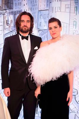 Dimitri Rassam and Charlotte Casiraghi arrive at the Rose Ball 2018 To Benefit The Princess Grace Foundation at Sporting Monte-Carlo on March 24, 2018 in Monte-Carlo, Monaco.  (Photo by PLS Pool/Getty Images)