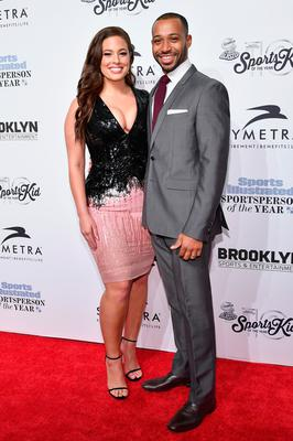 2016 Sports Illustrated Swimsuit Cover Model Ashley Graham and Justin Ervin attend the Sports Illustrated Sportsperson of the Year Ceremony 2016 at Barclays Center of Brooklyn on December 12, 2016 in New York City.  (Photo by Slaven Vlasic/Getty Images for Sports Illustrated)