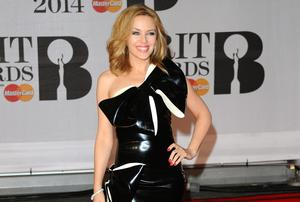 Singer Kylie Minogue in that tacky outfit.