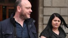 Barry and Sinead Davis, parents of Evan Davis, of Beacon South Quarter, Sandyford, Dublin 18, leaving court after the case. PIC: Collins Courts
