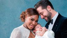 Serena Williams and her new husband, Reddit co-founder Alexis Ohanian with their baby daughter.