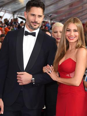 Sofia Vergara and Joe Manganiello arrives at the 21st Annual Screen Actors Guild Awards at The Shrine Auditorium on January 25, 2015 in Los Angeles, California.  (Photo by Steve Granitz/WireImage)