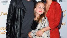 "Johnny McDaid, director Courteney Cox and daughter Coco Arquette arrive at the Los Angeles Special Screening of ""Just Before I Go"" at ArcLight Hollywood on April 20, 2015 in Hollywood, California.  (Photo by Jon Kopaloff/FilmMagic)"