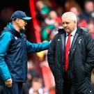 Rivals: Joe Schmidt, head coach of Ireland (left), with Warren Gatland, head coach of Wales. Photo: Michael Steele/Getty Images