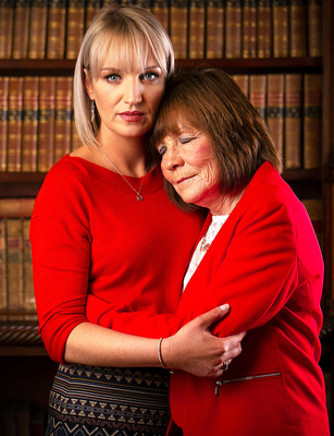 Clodagh Hawe's sister Jacqueline Connolly and the women's mother, Mary Coll