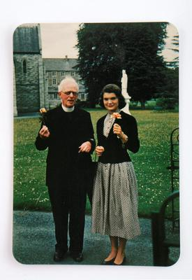 Jacqueline Bouvier Kennedy with Fr Joseph Leonard in Dublin. Picture: Sheppards Irish Auction House