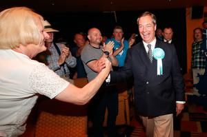 Staying out: Nigel Farage, whose Brexit Party will not join the new EU grouping. Photo: Danny Lawson/PA Wire
