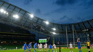The Leinster lineout malfunctioned again against Ulster in the PRO14 final. Photo by Ramsey Cardy/Sportsfile