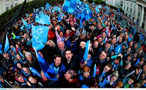 21 September 2015; A general view of the crowd during the team homecoming. O'Connell St, Dublin. Picture credit: Paul Mohan / SPORTSFILE