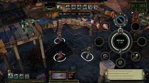 Wasteland 2: DC - The right trigger brings up a handy attack wheel