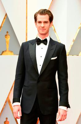 "Nominee for Best Actor ""Hacksaw Ridge"" Andrew Garfield arrives on the red carpet for the 89th Oscars on February 26, 2017 in Hollywood, California.  / AFP PHOTO / VALERIE MACONVALERIE MACON/AFP/Getty Images"