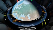 An interactive exhibit on the effects of greenhouse gases