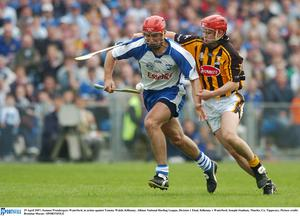 29 April 2007; Seamus Prendergast, Waterford, in action against Tommy Walsh, Kilkenny. Allianz National Hurling League, Division 1 Final, Kilkenny v Waterford, Semple Stadium, Thurles, Co. Tipperary. Picture credit: Brendan Moran / SPORTSFILE