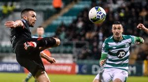 Dundalk and Shamrock Rovers will battle it out for the title when play resumes