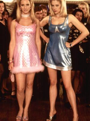 SCHOOL CHUMS: Lisa Kudrow and Mira Sorvino in 'Romy and Michelle's High School Reunion