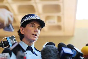 Deputy police commissioner Catherine Burn speaks to the media. Photo: Joosep Martinson/Getty Images