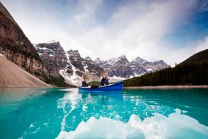 Paddle a canoe in Banff National Park