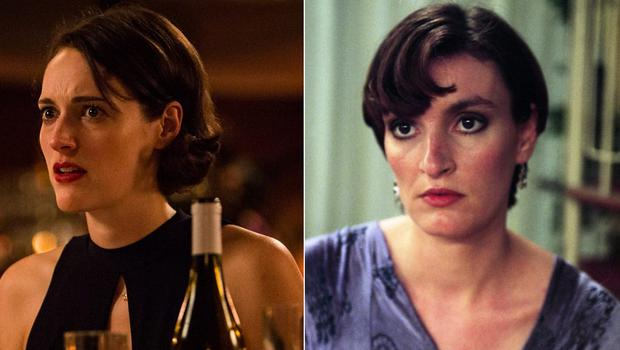 Daniela Nardini as Anna in This Life and (left) Phoebe Waller-bridge as Fleabag