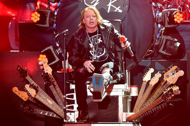 Musician Axl Rose of Guns N' Roses performs onstage during day 2 of the 2016 Coachella Valley Music & Arts Festival Weekend 1 at the Empire Polo Club on April 16, 2016 in Indio, California. (Photo by Kevin Winter/Getty Images for Coachella)