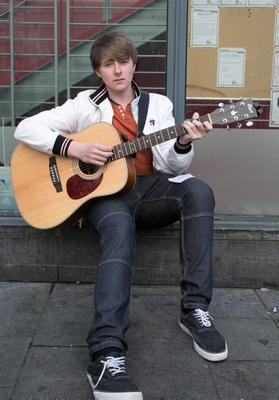 Jake Richardson from Firhouse during a boy band audition by Louis Walsh at the Button Factory, Temple Bar , Dublin
