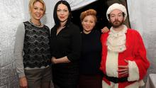 """LOS ANGELES, CA - DECEMBER 14:  (L-R) Jenna Elfman, Laura Prepon, Erika Christensen and Danny Masterson attend the Church of Scientology Celebrity Centre's 21st """"Christmas Stories"""" at the Church of Scientology Celebrity Centre on December 14, 2013 in Los Angeles, California. """"Christmas Stories"""" benefits the Hollywood Police Department's Youth Development Programs for underprivileged children.  (Photo by Kevin Winter/Getty Images)"""