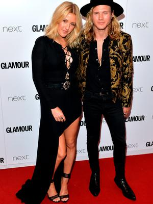 Ellie Goulding and Dougie Poynter attend the Glamour Women Of The Year Awards at Berkeley Square Gardens on June 2, 2015 in London, England.