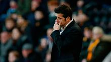 Hull City manager Marco Silva looks dejected. Photo: Reuters