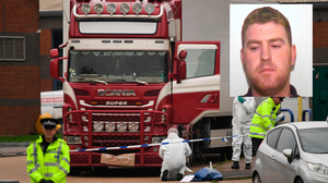 Scene: The bodies of the Vietnamese nationals were discovered on an industrial estate in Grays, Essex; Inset: Ronan Hughes
