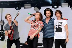 (Left - right) Niall Horan, Harry Styles, Liam Payne and Louis Tomlinson of One Direction perform on stage during Capital FM's Summertime Ball at Wembley Stadium, London. PRESS ASSOCIATION Photo. Picture date: Saturday June 6, 2015. See PA story SHOWBIZ Summertime. Photo credit should read: Yui Mok/PA Wire