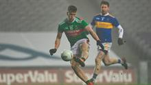 Cillian O'Connor of Mayo scores his side's fifth goal during the GAA Football All-Ireland Senior Championship Semi-Final match against Tipperary. Photo by Brendan Moran/Sportsfile