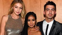 Gigi Hadid, Jhene Aiko and Joe Jonas attend the official CFDA Fashion Awards after party co-Hosted by Refinery29 at The Top of The Standard on June 1, 2015 in New York City.