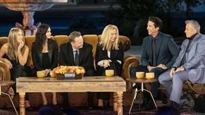 The cast of Friends performed the show's famous theme song during an impromptu Carpool Karaoke with James Corden (Terence Patrick/HBO Max/PA)