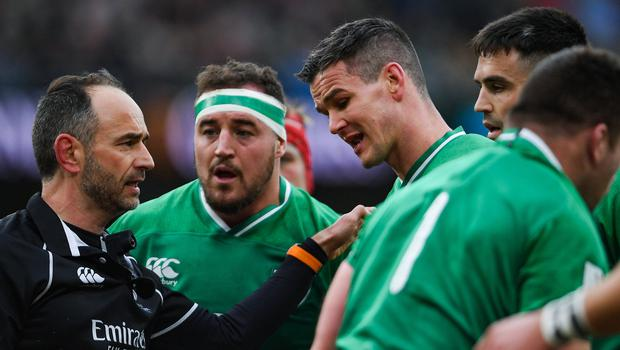 Wales captain Alun Wyn Jones defended counterpart Johnny Sexton after Ireland's 24-14 win. Photo by Ramsey Cardy/Sportsfile