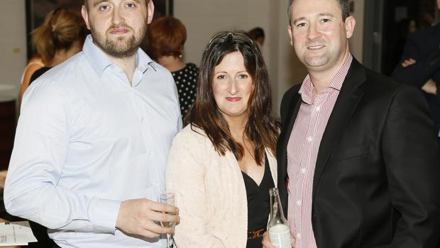 no fee if house 2016 mentioned in caption John Rusell, Clare Denvir and Ryan Tucker at the launch of house 2016  at The Chocolate Factory. The new interiors event launched by INM will run from 20th - 22nd May 2016 at the RDS Simmonscourt, and will showcase the very best of all things home and interiors related-photo Kieran Harnett