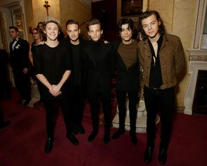 One Direction (L-R) Niall Horan, Liam Payne, Louis Tomlinson, Zayn Malik and Harry Styles attend The Royal Variety Performance at the London Palladium
