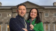 Power couple: Green Party deputy leader Catherine Martin and husband, Green TD Francis Noel Duffy, are at the forefront of the coalition talks. PHOTO: Mark Condren