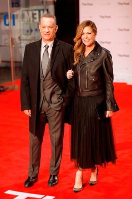Tom Hanks and Rita Wilson attend 'The Post' European Premiere at Odeon Leicester Square on January 10, 2018 in London, England.  (Photo by Tristan Fewings/Tristan Fewings/Getty Images)