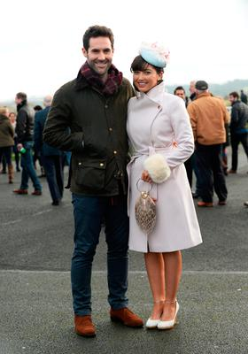 Daragh O'Brien, from Kilcock, Kildare, and Carol Gleeson, from Naas, Kildare at Winter Ladies Day, Naas Racecourse. Picture: Caroline Quinn
