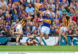 7 September 2014; Gearóid Ryan, Tipperary, reacts to a missed goal opportunity. GAA Hurling All Ireland Senior Championship Final, Kilkenny v Tipperary. Croke Park, Dublin. Picture credit: Brendan Moran / SPORTSFILE