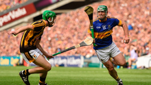 John O'Dwyer takes on Joey Holden during Tipperary's victory in last year's All-Ireland SHC final. Photo: Paul Mohan/Sportsfile