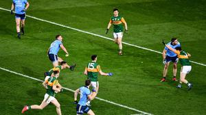 Action from this year's Allianz NFL clash between Dublin and Kerry at Croke Park. Photo by Ray McManus/Sportsfile