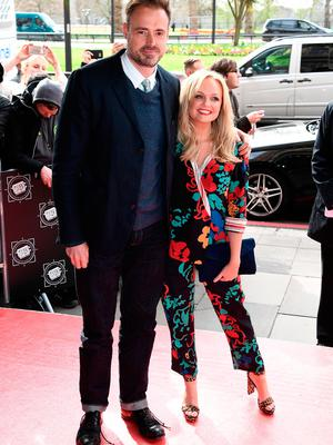 Jamie Theakston and Emma Bunton attend the TRIC Awards 2017 on March 14, 2017 in London, United Kingdom.  (Photo by Gareth Cattermole/Getty Images)