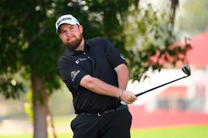 Ireland's Shane Lowry plays a shot during practice ahead of the Abu Dhabi HSBC Championship at Abu Dhabi Golf Club today. Photo: Ross Kinnaird/Getty Images