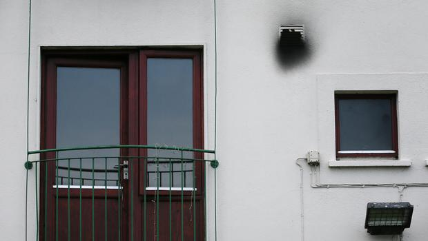 Smoke damaged vent at the apartment where a woman and two children died in a fire ,on Kilcronan Avenue in Clondalkin (Image: Frank Mc Grath)