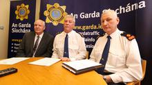 Det Supt Kevin Dolan, Chief Supt Diarmuid O'Sullivan and Supt. John Hand all from the Eastern region of the Dublin Metroplitan Region pictured in Garda HQ after the Graham Dwyer verdict