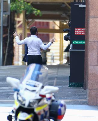 Lindt Cafe, Martin Place on December 15, 2014 in Sydney, Australia.  Police attend a hostage situation at Lindt Cafe in Martin Place.  (Photo by Mark Metcalfe/Getty Images)