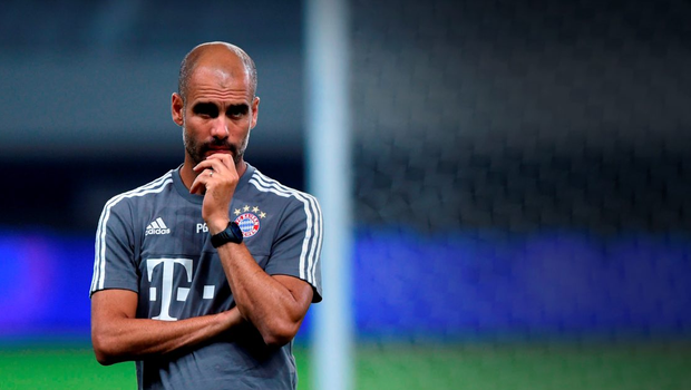Pep Guardiola is set to quit Bayern Munich at the end of the season and has his pick of clubs to choose from including both Manchester clubs and Chelsea (AFP/Getty)