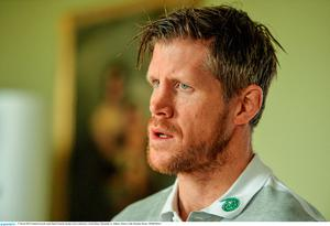 Ireland forwards coach Simon Easterby during a press conference. Carton House, Maynooth, Co. Kildare. Picture credit: Brendan Moran / SPORTSFILE