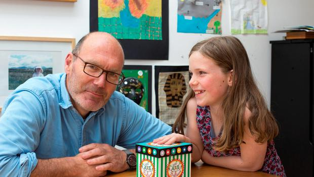 The best things in life are free: Dave Robbins with his daughter Grace who often makes her dad gifts for Father's Day. Photo: Mark Condren