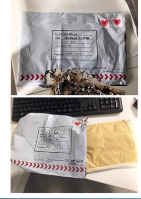 The packages had An Post stamps and Dublin postmarks